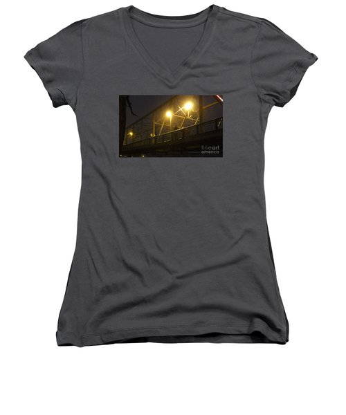 Snow In Lambertville Women's V-Neck (Athletic Fit)