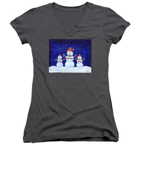 Snowmen Women's V-Neck
