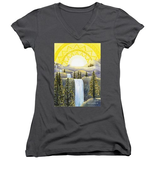 Solar Plexus Chakra Women's V-Neck (Athletic Fit)