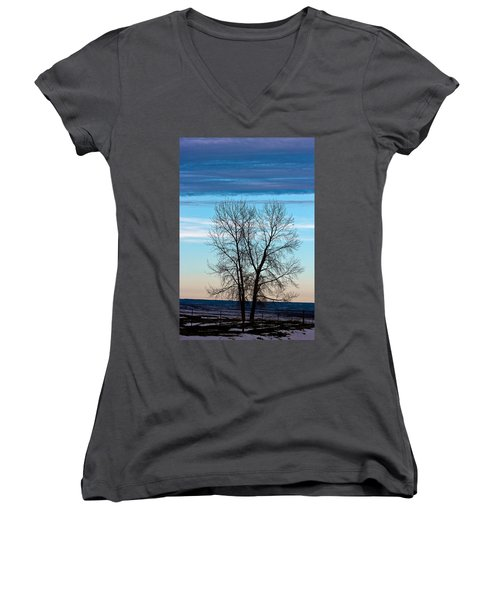 Soldier Creek Sunset Women's V-Neck