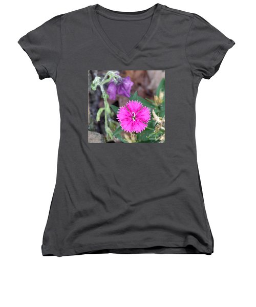 Women's V-Neck T-Shirt (Junior Cut) featuring the photograph Solitary by Andrea Anderegg