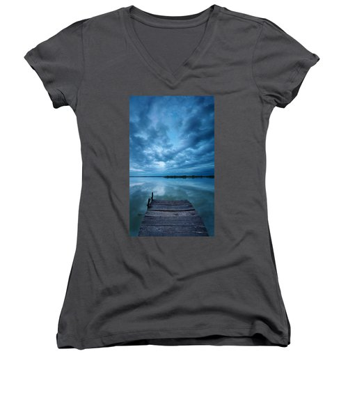 Solitary Pier Women's V-Neck T-Shirt