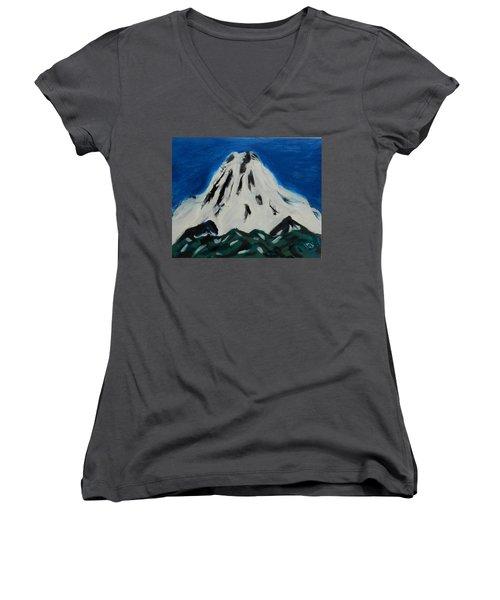 Somewhere Rainier Women's V-Neck T-Shirt