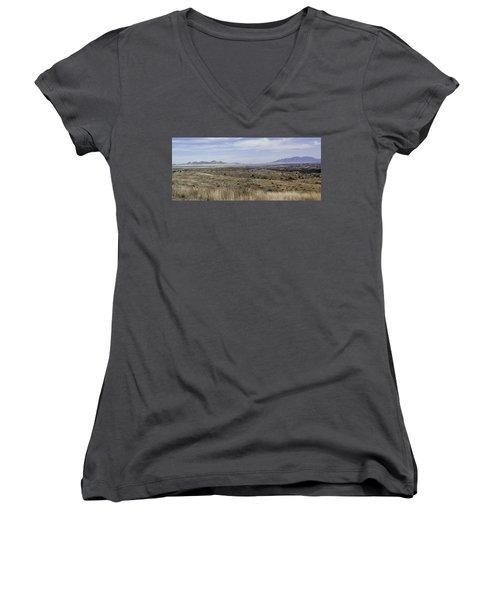 Women's V-Neck T-Shirt (Junior Cut) featuring the photograph Sonoita Arizona by Lynn Geoffroy