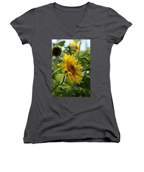 Women's V-Neck T-Shirt (Junior Cut) featuring the photograph Soulshine No.2 by Neal Eslinger