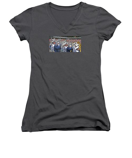 Sounds Of College Football Women's V-Neck T-Shirt