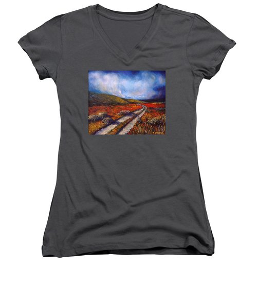 Southern California Road Women's V-Neck T-Shirt