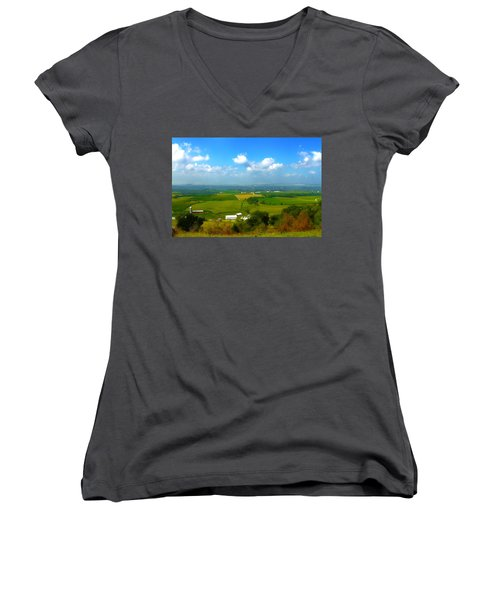 Southern Illinois River Basin Farmland Women's V-Neck