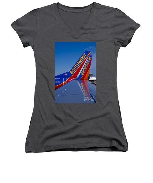 Southwest Women's V-Neck T-Shirt (Junior Cut) by Steven Ralser