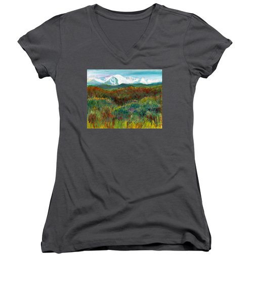 Spanish Peaks Evening Women's V-Neck (Athletic Fit)