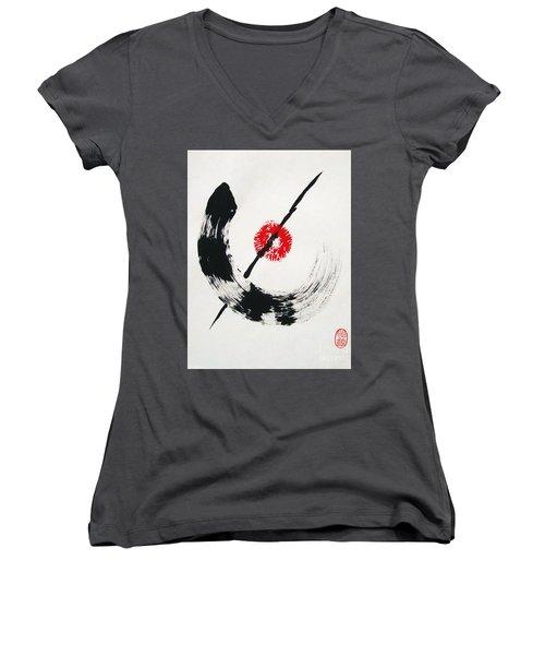 Spirit Of Zen Women's V-Neck (Athletic Fit)