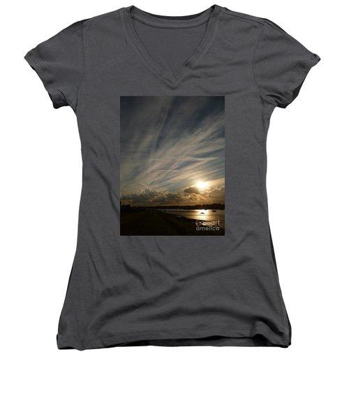 Spirits Flying In The Sky Women's V-Neck T-Shirt