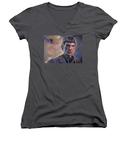 Spock Women's V-Neck T-Shirt (Junior Cut) by Peter Suhocke
