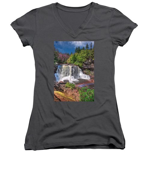 Spring At Blackwater Falls Women's V-Neck