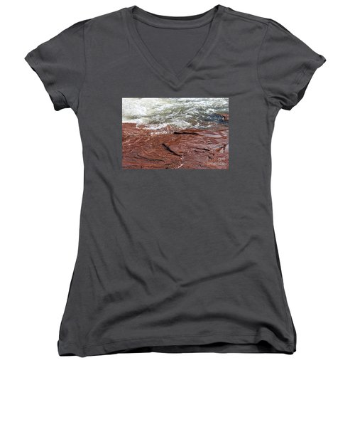 Spring At Sedona In Spring Women's V-Neck T-Shirt