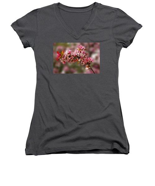 Cheery Cherry Blossoms Women's V-Neck