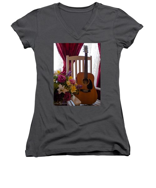 Spring Guitar Women's V-Neck
