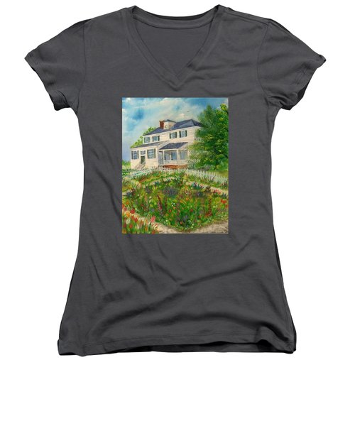 Spring In Colonial Williamsburg- Cole House Women's V-Neck