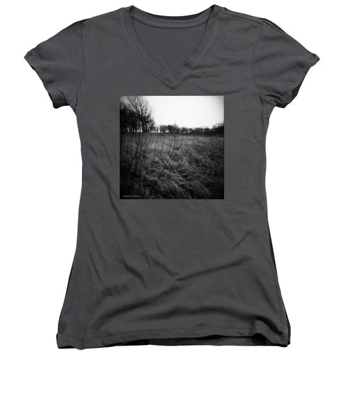 Spring Is Near Holga Photography Women's V-Neck (Athletic Fit)