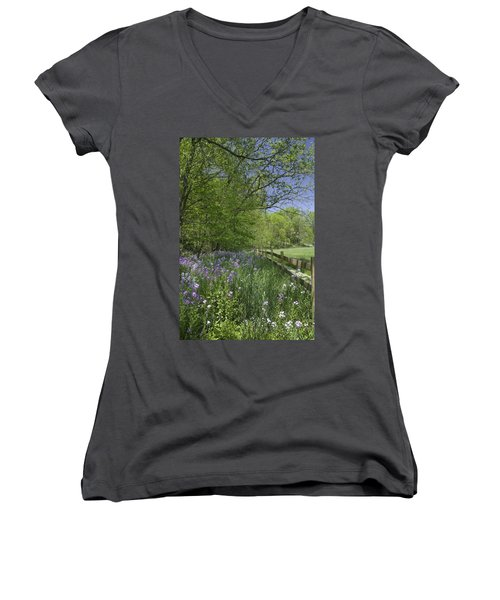 Spring Wildflowers Women's V-Neck (Athletic Fit)