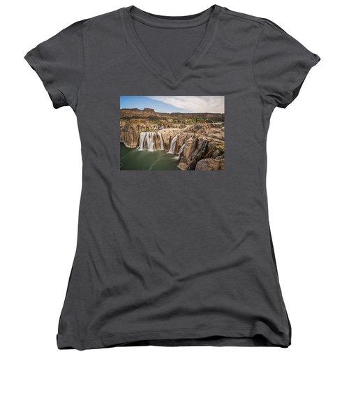 Springs Last Rush Women's V-Neck T-Shirt (Junior Cut)