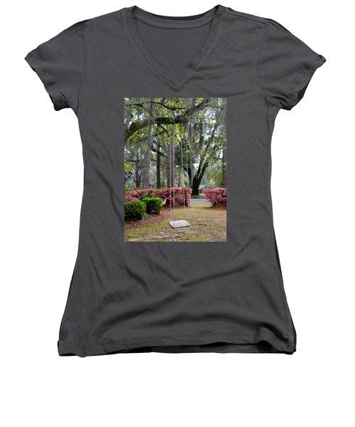 Springtime Swing Time Women's V-Neck T-Shirt
