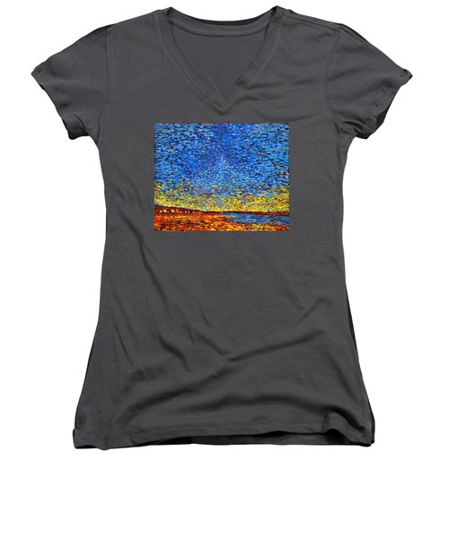 St. Andrews Sunset Women's V-Neck
