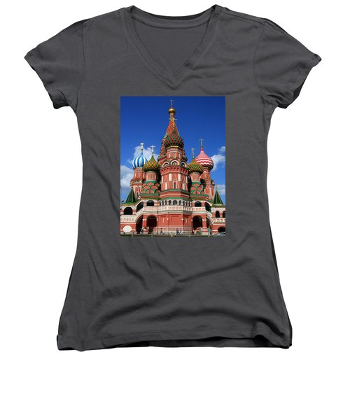 St. Basil's Cathedral Women's V-Neck (Athletic Fit)