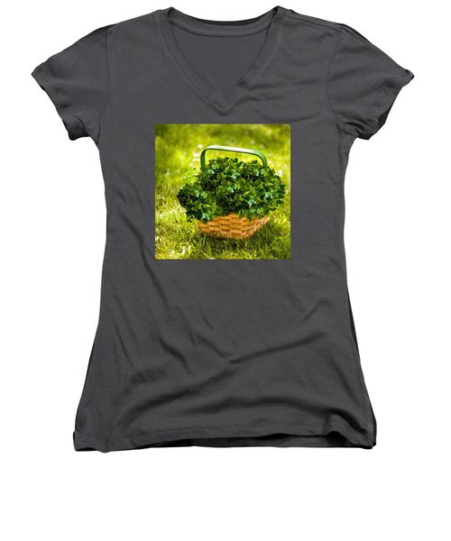 St Patricks Day Women's V-Neck (Athletic Fit)