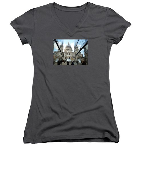 St Paul's Reflected Women's V-Neck (Athletic Fit)