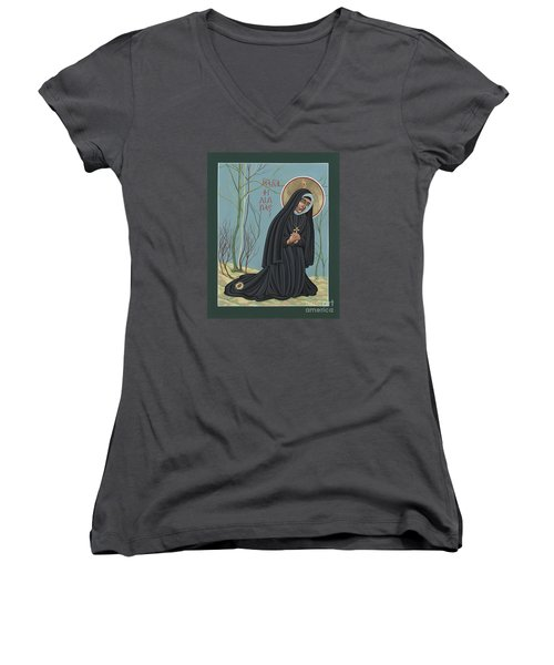 St. Philippine Duchesne 259 Women's V-Neck T-Shirt (Junior Cut) by William Hart McNichols