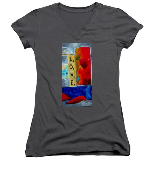 Stained Glass Love Women's V-Neck