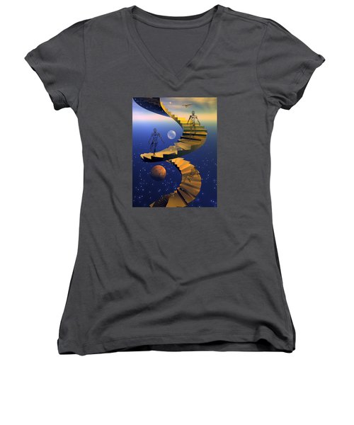 Stairway To Imagination Women's V-Neck T-Shirt