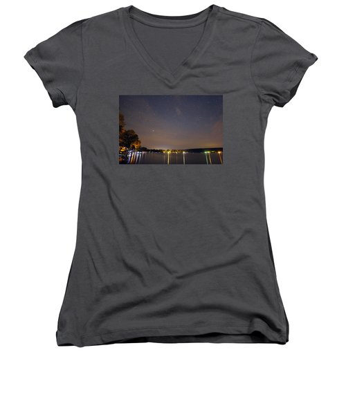 Stars Over Conesus Women's V-Neck T-Shirt