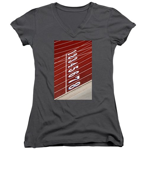 Track Starting Line Women's V-Neck T-Shirt