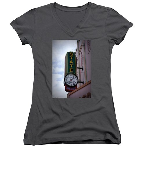 State Theatre Sign Women's V-Neck T-Shirt