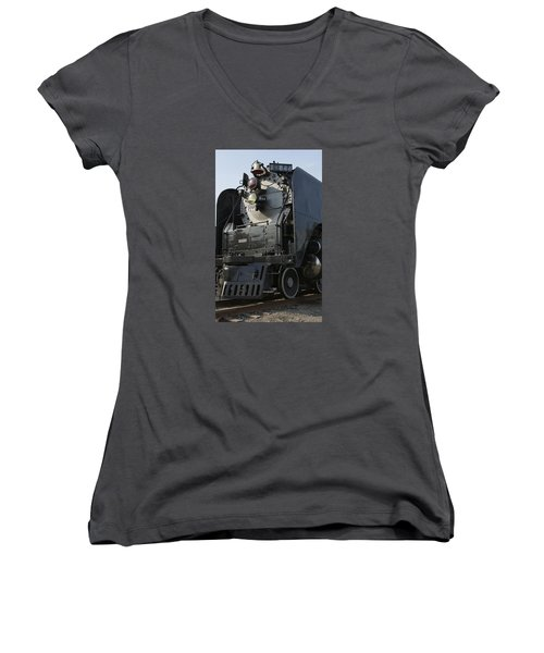 Steam Engine U P 844 Women's V-Neck (Athletic Fit)