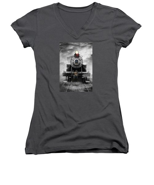 Steam Train Dream Women's V-Neck (Athletic Fit)