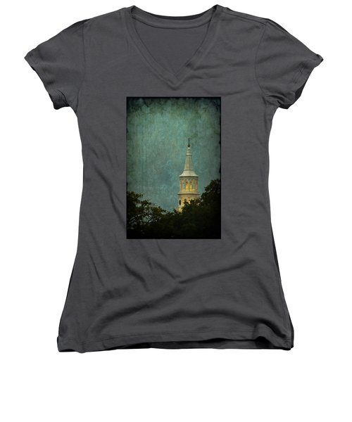 Steeple In A Storm Women's V-Neck