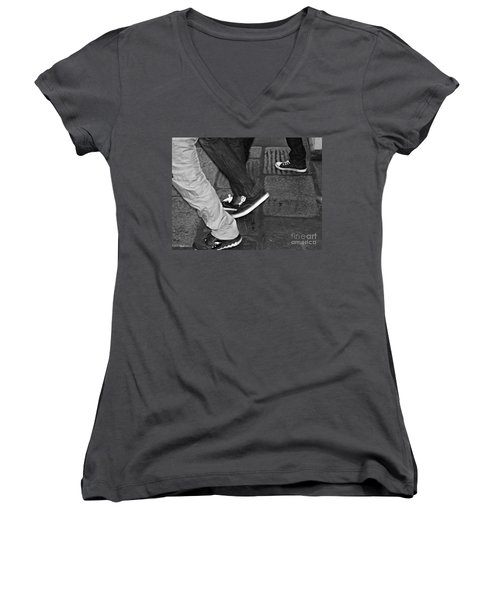 Stepping Out Women's V-Neck T-Shirt (Junior Cut) by Clare Bevan