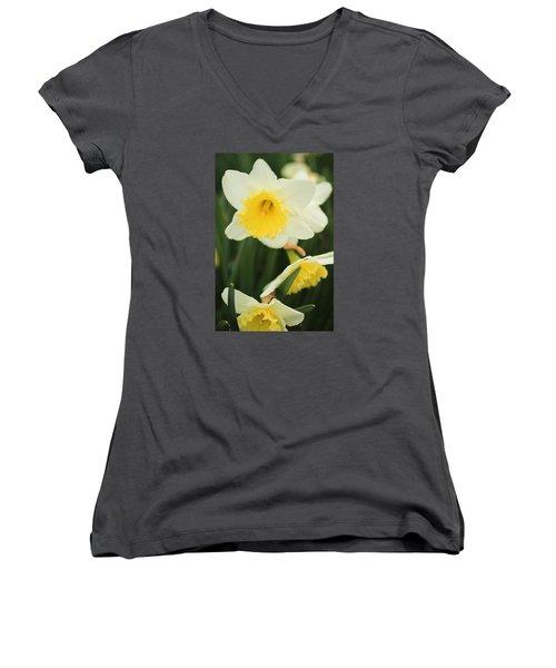 Stillness Women's V-Neck T-Shirt (Junior Cut) by Julie Andel