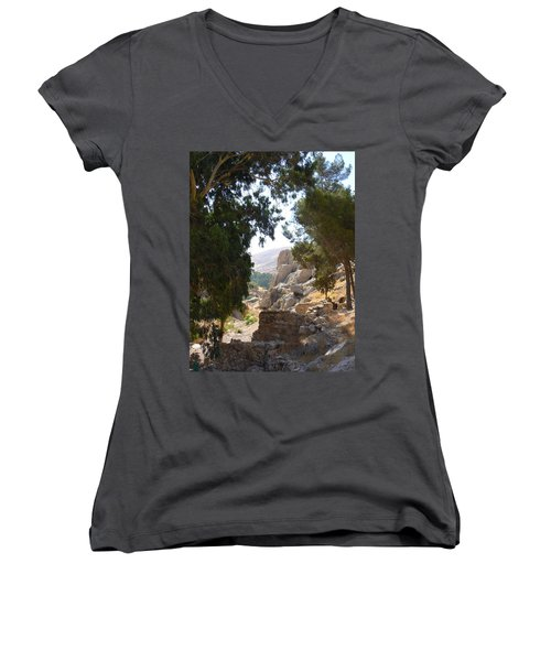 Stony Paths Women's V-Neck T-Shirt