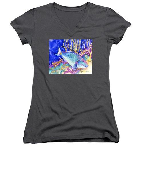 Stoplight Parrotfish Women's V-Neck