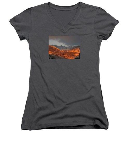 Stormy Monday Women's V-Neck T-Shirt (Junior Cut) by Fiona Kennard