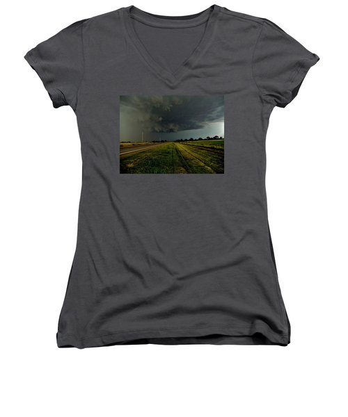 Stormy Road Ahead Women's V-Neck T-Shirt