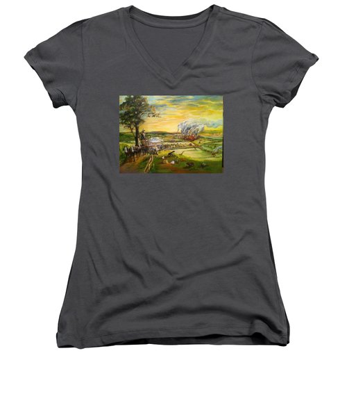 Story2 Women's V-Neck T-Shirt