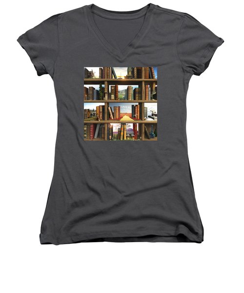 Storyworld Women's V-Neck T-Shirt (Junior Cut) by Cynthia Decker