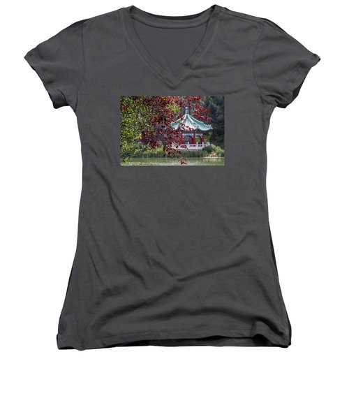 Stow Lake Pavilion Women's V-Neck (Athletic Fit)
