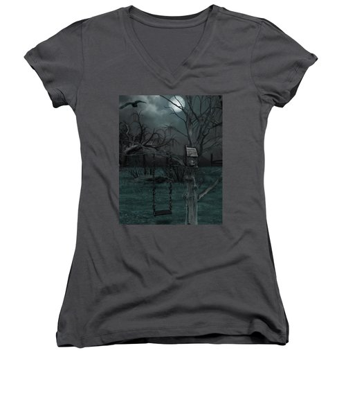 Strange Eyedea Women's V-Neck T-Shirt