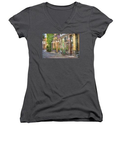 Street In Ghent Women's V-Neck